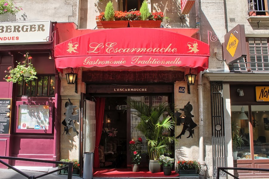 "Ужин-дегустация французской кухни в ресторане Парижа  ""L' Escarmouche"" с дегустацией французской кухни"
