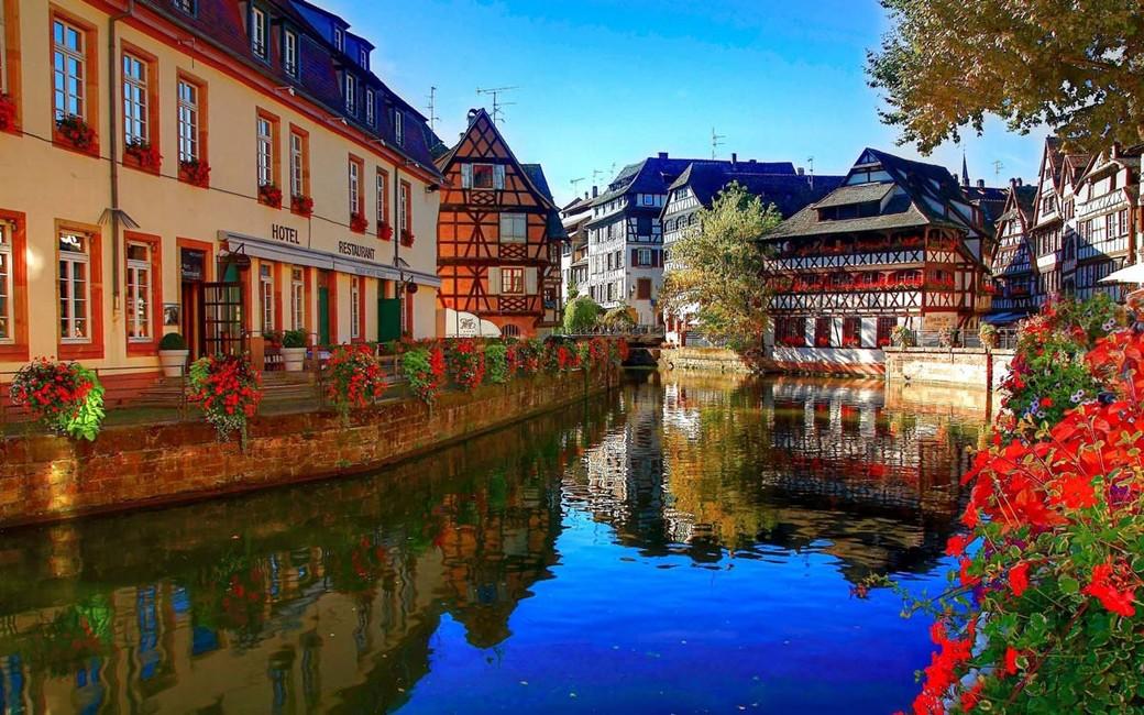 «По каналам Страсбурга на кораблике»