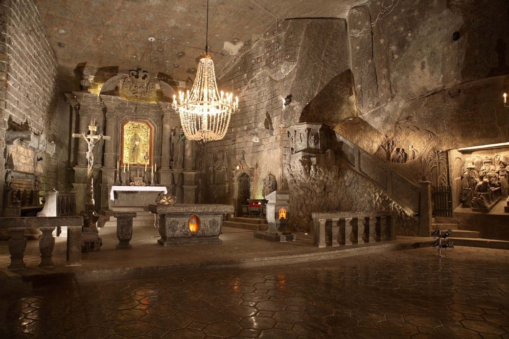 Посещение соляных шахт в Величке